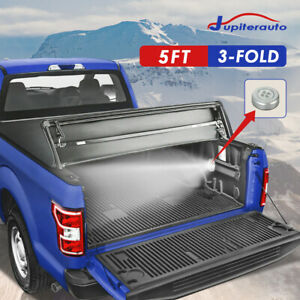 5 Ft Tri fold Truck Tonneau Bed Cover For 2019 2020 Ford Ranger Xl Xlt Lariat