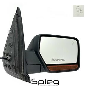 Side Mirror For 15 17 Ford Expedition Blind Spot Memory Passenger Right 15wire