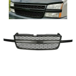 Front Upper Grill Black Grille Fit For 05 07 Chevy Silverado 1500 2500hd 3500