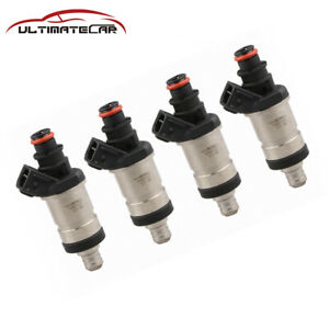 New 4x Flow Matched Fuel Injectors For Honda Accord Civic Acura Rl Tl Cl