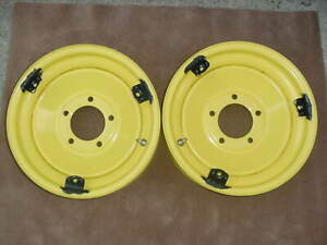 2 New Stockton Wheels W Moon Clips Scta 15 x5 5 1 5 39 48 Ford Spindles