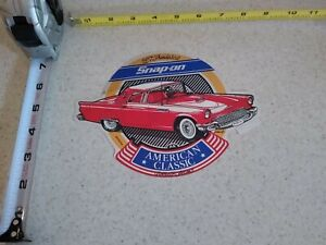 Vintage Snap On Tools Decal Sticker American Classics 1957 Red Ford Thunderbird