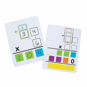 Multiplication Dry Erase Boards Educational 10 Pieces