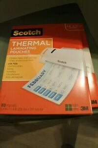 2 Boxes Scotch Letter Size Thermal Laminating 100 And 87 Pouches Mmmtp3854100