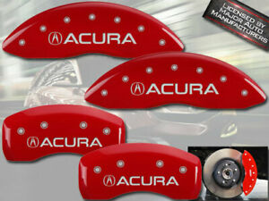 2017 2020 Acura Mdx Front Rear Red Engraved Mgp Brake Disc Caliper Covers 4p
