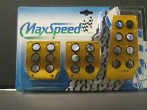 Maxspeed Universal Pedal Cover 06 ms03g Gold Manual 3pcs set