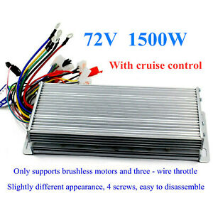 72v 1500w E bike Scooter Brushless Dc Motor Speed Controller With Cruise Lines