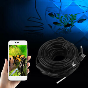 1pc 20m 5 5mm Usb Endoscope With 720p Waterproof Camera For Pipe Car Inspection