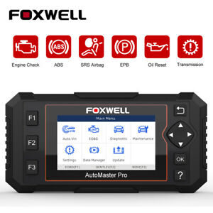 Foxwell Nt614elite Auto Obd2 Diagnostic Scanner Tool Abs Srs Oil Reset 4 7 Day