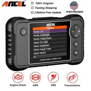 Automotive Obd2 Scanner Abs Srs Engine Transmission Diagnostic Code Reader Tools
