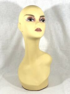Female Mannequin Display Head Form Bust Makeup No Hair Excellent Used Condition