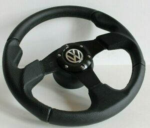 Steering Wheel Vw Golf Jetta Scirocco Mk1 Mk2 Caddy Perforated Leather 1977 1988