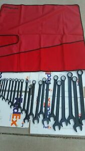 Snap On 22 Pc 12 Point Sae Flank Drive Standard Combination Wrench Set