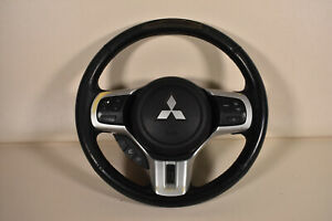 08 15 Mitsubishi Lancer Ralliart Evo Steering Wheel Airbag Black Oem