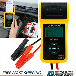 12v 24v Digital Battery Tester Automotive Car Battery Analyzer With Printer Us