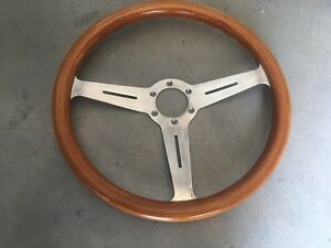 Porsche 356 Wood Steering Wheel Made In Italy Date Stamped 7 81