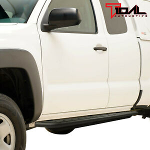 Tidal Steel Rock Sliders Running Boards Fit 05 18 Tacoma Double Cab