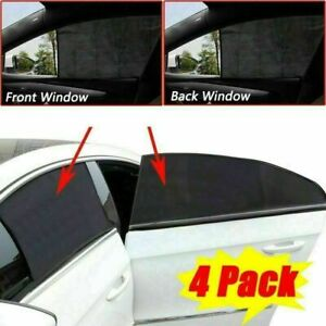 4pcs Universal Car Sun Shade Uv Protection Curtain Car Window Cover Front