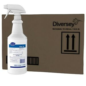 12 Pack Diversey Virex Tb Disinfectant Ready to use Cleaner 1 Qt 04743