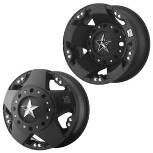 17x6 Xd775 Rockstar Matte Black Gm Dodge Ford Dually Wheels 8x6 5