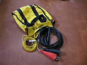 Trimble External Power Cable Lemo 5 Pin W alligator Clips Fuse Block Bag