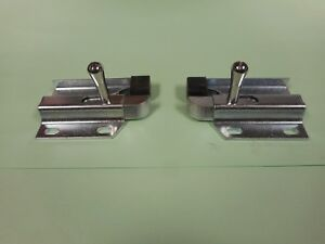 1969 1970 Ford Mustang Shelby Fastback Fold Down Rear Seat Side Latch Pair New