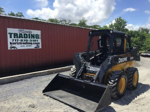 2016 John Deere 320e Skid Steer Loader Super Clean One Owner Only 2200hrs