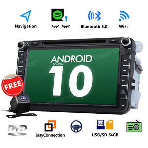 Cam ga9453 Android 10 8 Car Stereo Gps Navigation Radio Wifi Dvd For Volkswagen