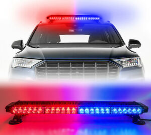 Led Emergency Warning Lights Red blue Strobe Light Bar Roof Traffic Advisor