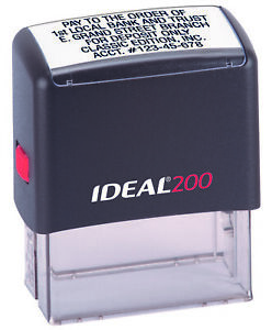 Ideal 200 6 Line Custom Self Inking Rubber Stamp