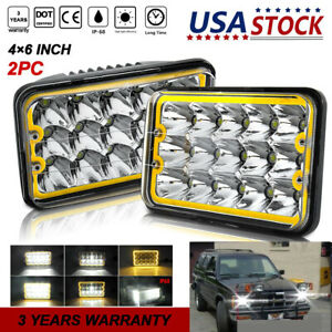 2pcs 4x6 Led Headlights Upgrade For Blizzard Snowplow Snow Plow 680lt 720lt 810