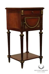 French Louis Xv Style Antique Marble Top Side Table Nightstand