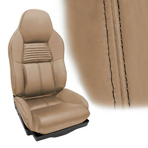 1994 1996 Corvette Standard Seat Covers Light Beige With Black Accent Stitching