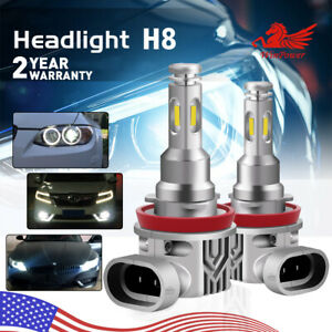 Cree H8 Led Angel Eyes Halo Ring Light Bulbs Hid Xenon 6000k For Bmw E92 80w Usa