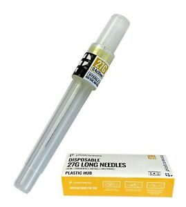 Disposable Sterile Dental Needles 27g Long box Of 100 W Perforated Opening