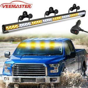 Emergency Strobe Light Bar Traffic Advisor 36 Led Flashing Warning Amber