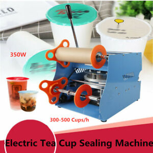 Manual Cup Sealer Sealing Machine 300 500 Cups hr Easy To Operate 350w Us Stock