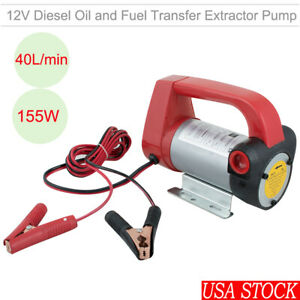 Great 12v Electric Diesel Oil Fuel Transfer Extractor Pump Motor 155w Portable
