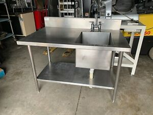 Win holt 48 Work Table Sink W 1 Right Bowl Restaurant Bakery