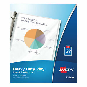 Top load Vinyl Sheet Protectors Heavy Gauge Letter Clear 100 box