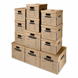 Smoothmove Classic Moving Storage Boxes Assorted Sizes Half Slotted Containe