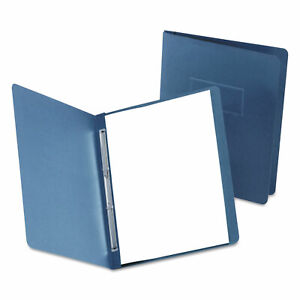 Paper Report Cover Large 2 Prong Fastener Letter 3 Capacity Dk Blue 25 box