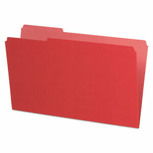 Interior File Folders 1 3 cut Tabs Legal Size Red 100 box