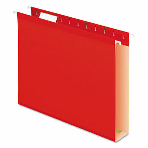 Extra Capacity Reinforced Hanging File Folders With Box Bottom Letter Size 1 5