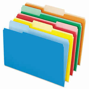 Interior File Folders 1 3 cut Tabs Legal Size Assorted 100 box