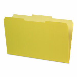 Interior File Folders 1 3 cut Tabs Legal Size Yellow 100 box