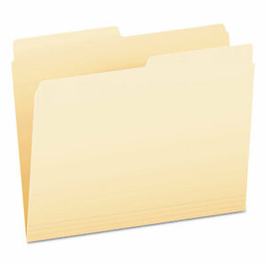 Archival quality Top Tab File Folders 1 3 cut Tabs Letter Size Manila 100 bo