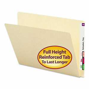 Extended End Tab Manila Folders Straight Tab Letter Size 100 box