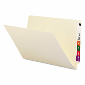 Heavyweight Manila End Tab Folders 9 5 Front 1 ply Straight Tab Legal Size