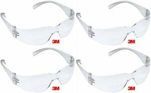 3m Virtua 2 0 Bifocal Clear Reader Safety Glasses Scratch Resistant 4 Pair